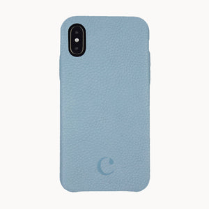 Clen Baby Blue iPhone X Leather Phone Case