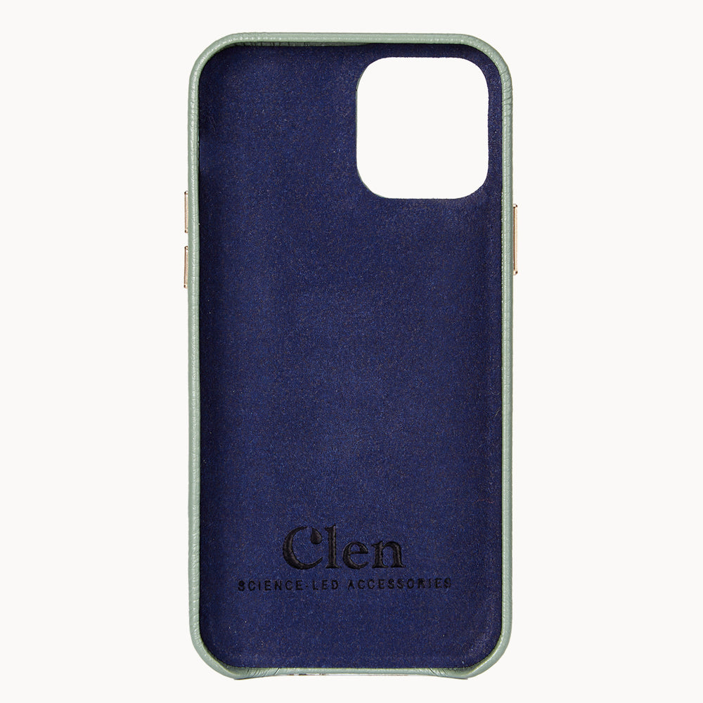 Clen Army Green iPhone 12 Pro Max Leather Phone Case