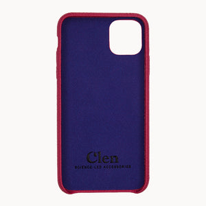 Clen Red iPhone 11 Leather Phone Case