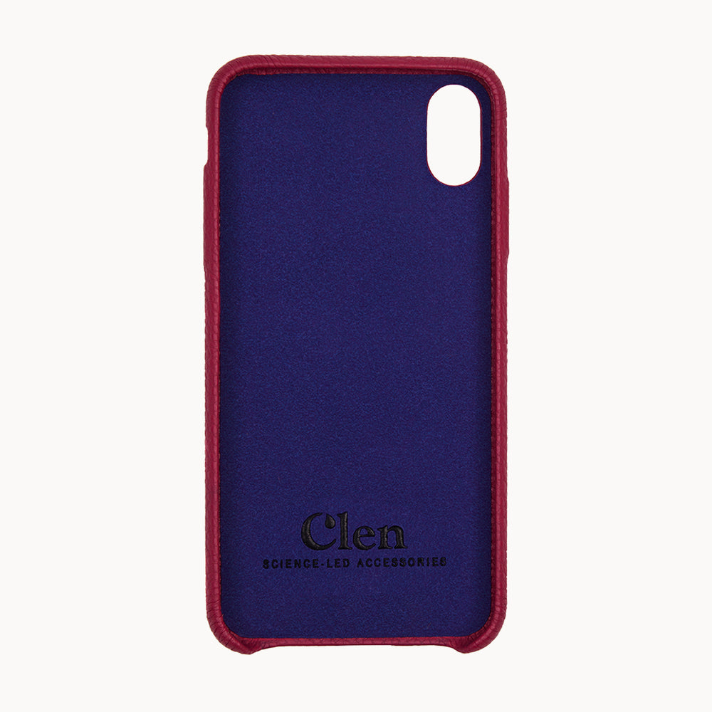 Clen Red iPhone X Leather Phone Case
