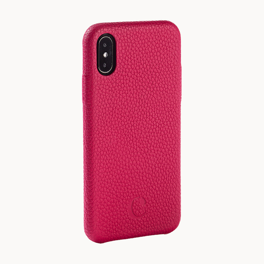 Clen Navy Blue iPhone X Leather Phone Case