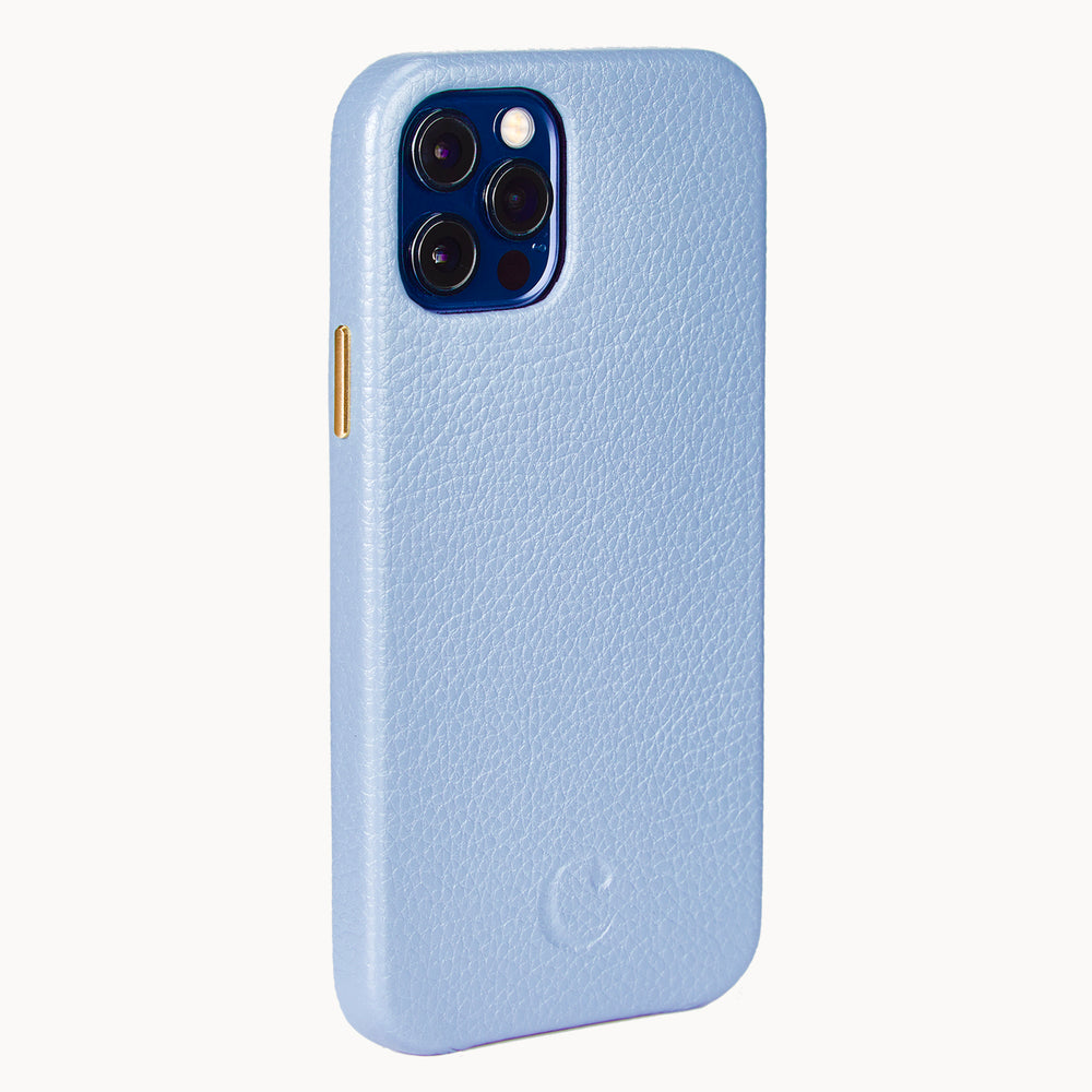 Clen Blue iPhone 12 Pro Max Leather Phone Case