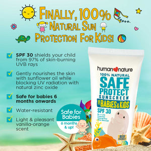 SafeProtect SPF30 for Babies & Kids 50g - Top-Season Essentials