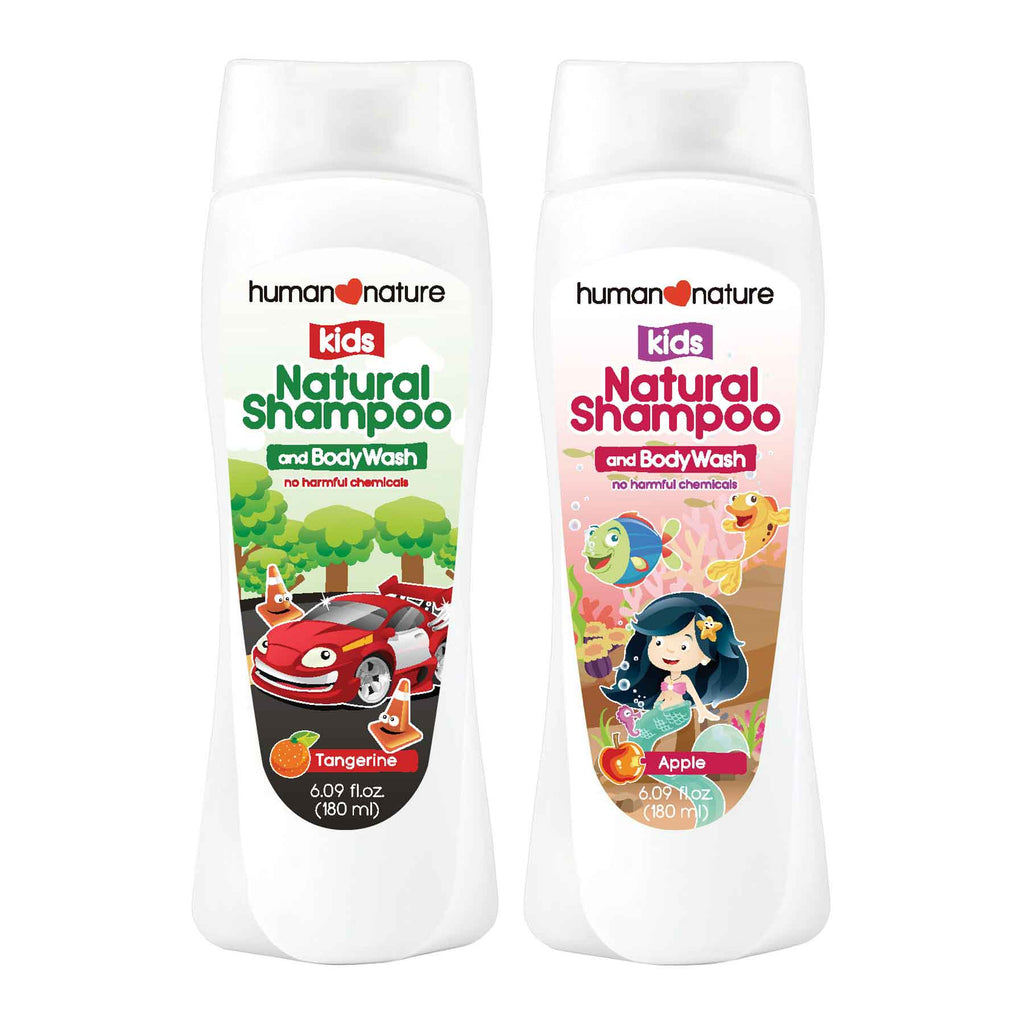 Kids Natural Shampoo and Body Wash for Boys & Girls - Top-Season Essentials