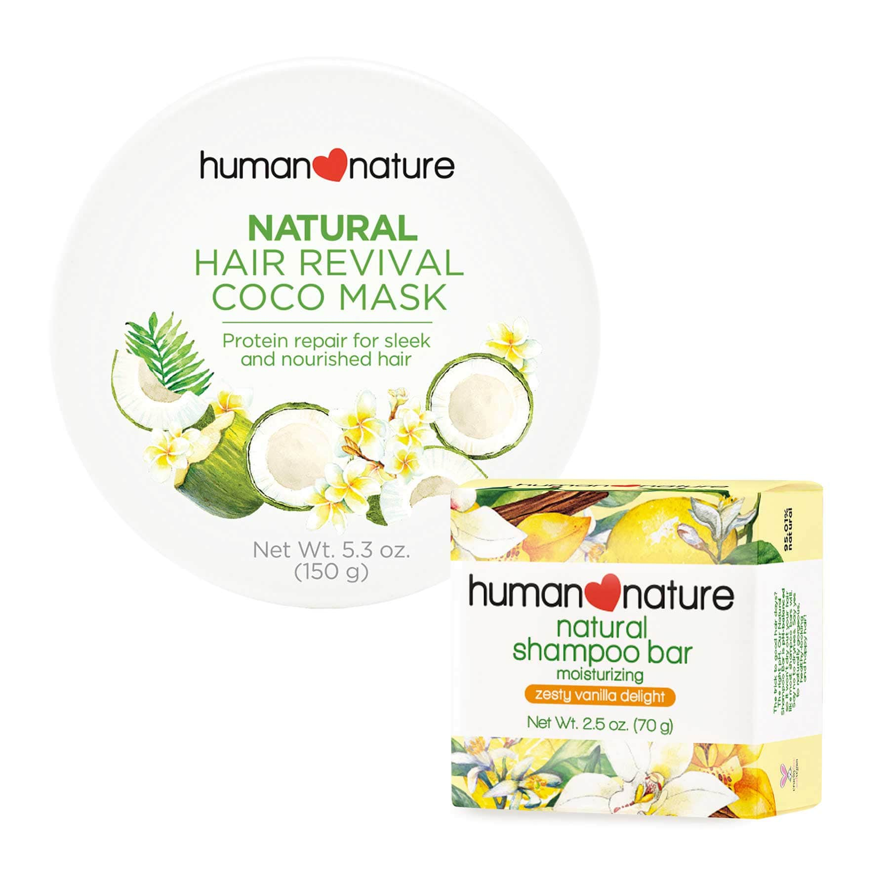 GET P20 OFF when you buy Natural Shampoo Bar with Natural Hair Revival Coco Mask - Top-Season Essentials