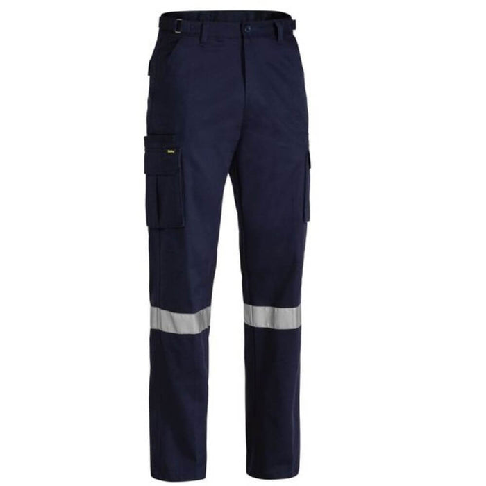 Drill Cargo Pant Regular Navy Tapped