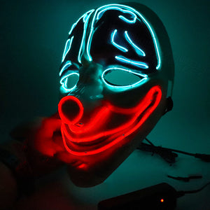 Halloween Clown's Brain Neon LED Mask