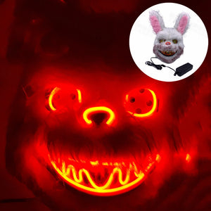 Scary Bunny Neon LED Mask