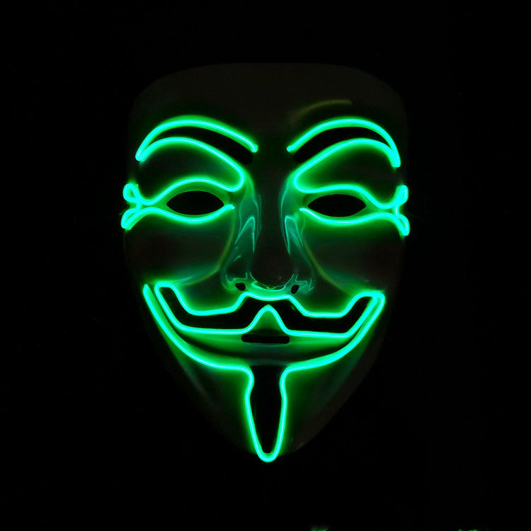 V for Vendetta Neon LED Mask