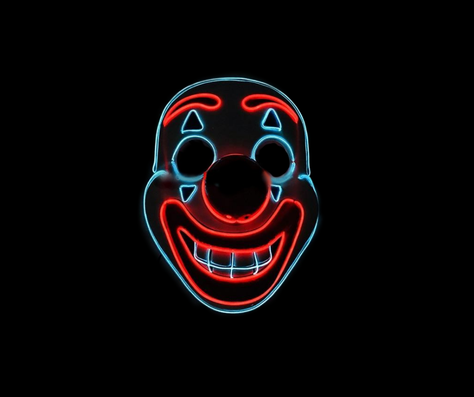 Joker Neon LED Mask