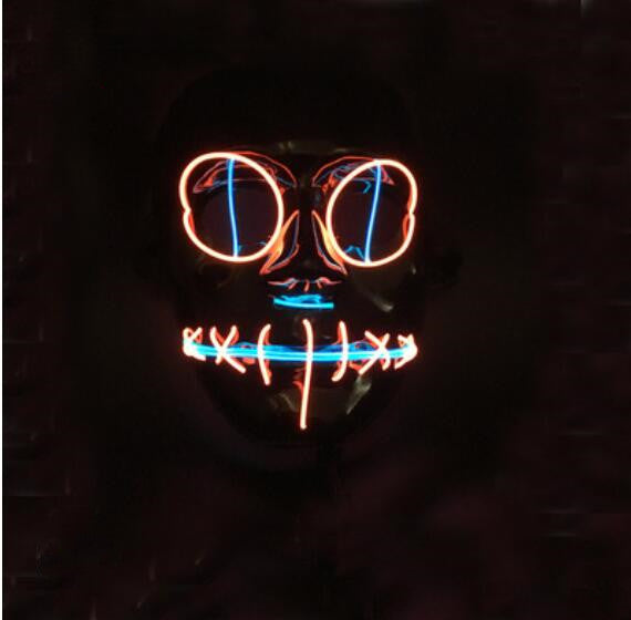Halloween Purging Neon LED Mask