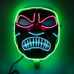 Angry Horror Spartan Neon LED Mask