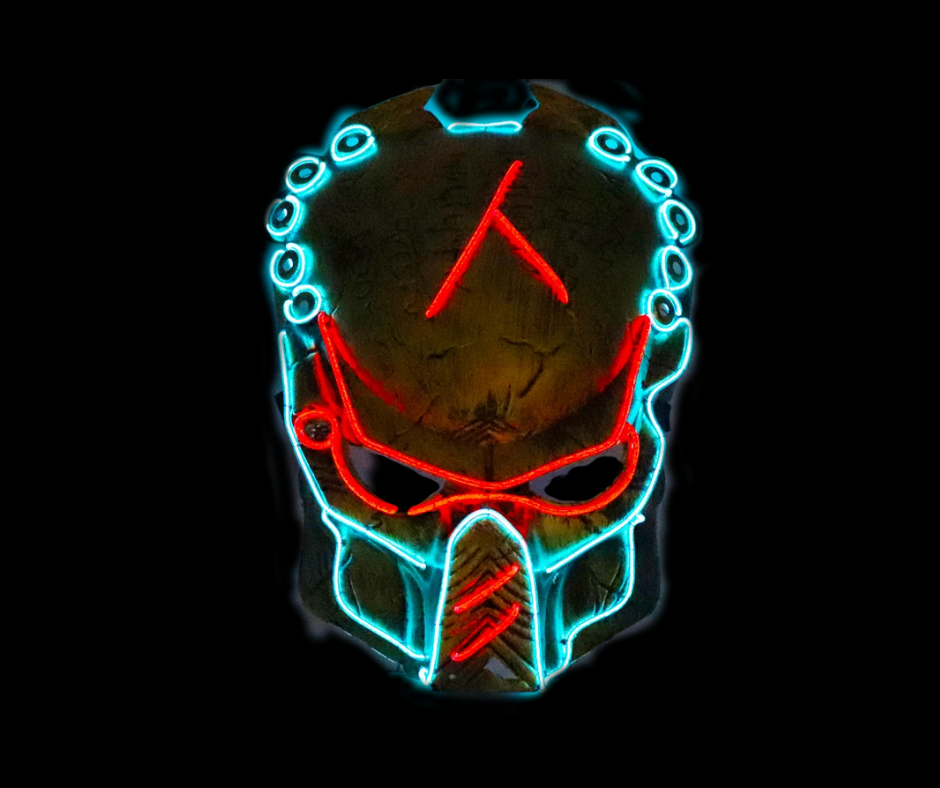 Predator Hunting Neon LED Mask