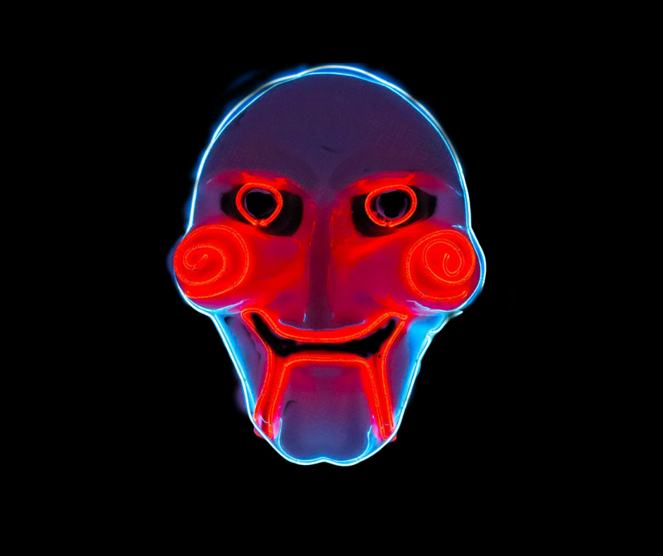 Halloween Scary Saw Neon LED Mask