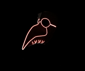 Halloween Plague Doctor Bird Beak Neon LED Mask