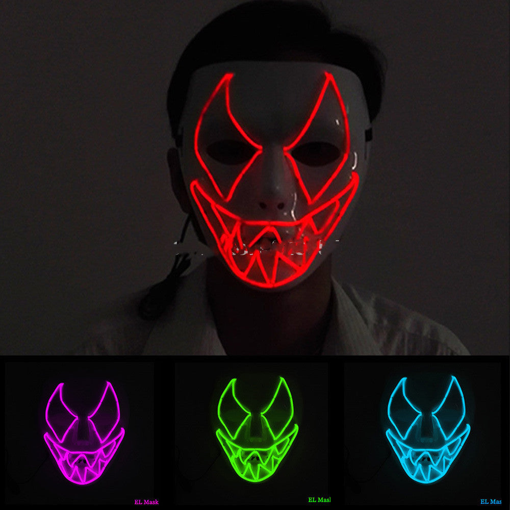 Halloween Venom Sawtooth Smiley Neon LED Mask