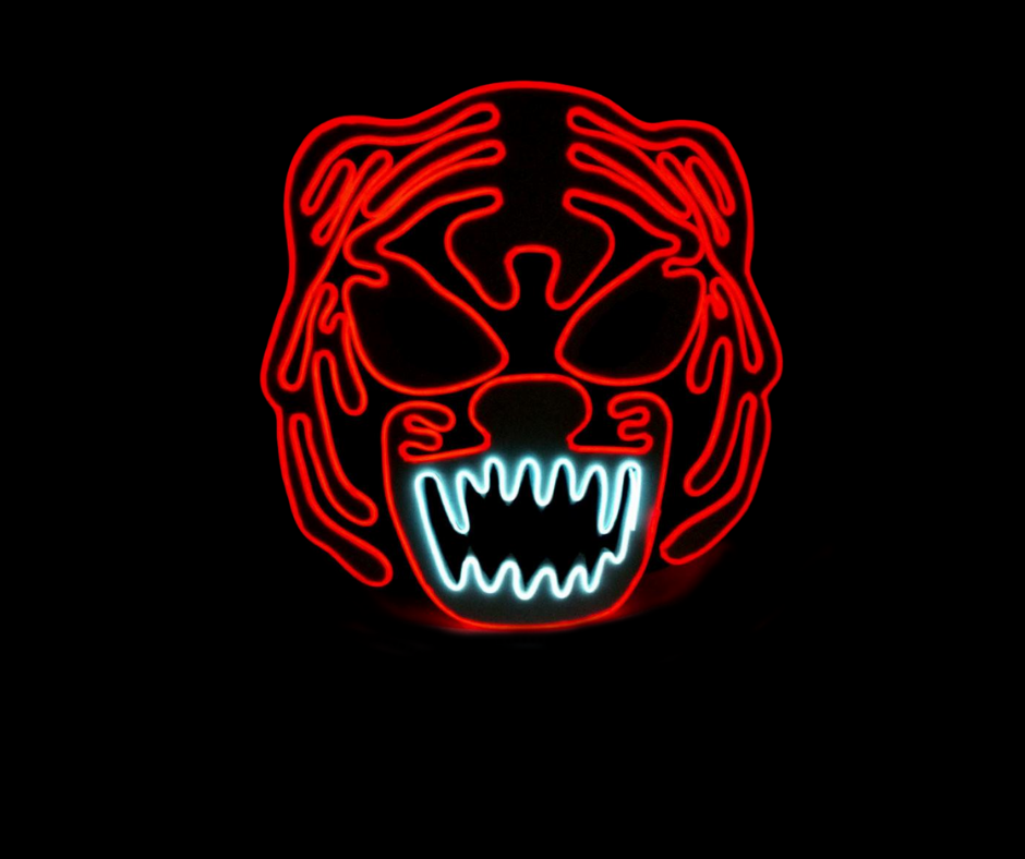 Tiger Neon LED Mask