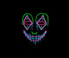 Purging Clown Neon LED Mask