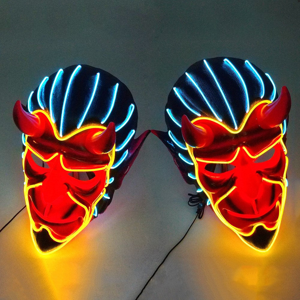 Halloween Hell Boy Demon Neon LED Mask