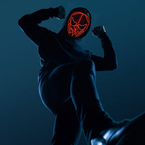Halloween Scary Pumpkin Neon LED Mask