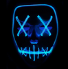 Black V Halloween Horror Neon LED Mask