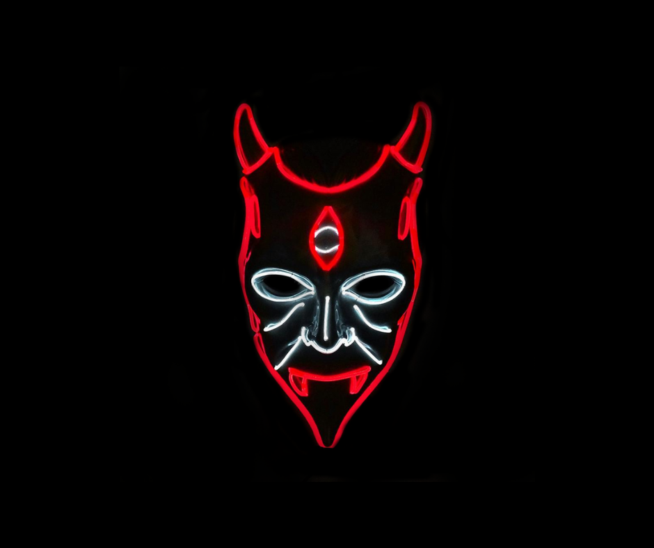 Halloween Demon Neon LED Mask