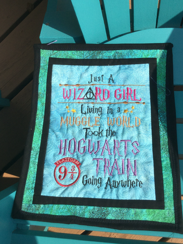 NEW - Wall Hanging - Wizard Girl