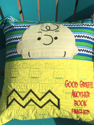 NEW - Book Pillow - Charlie Brown