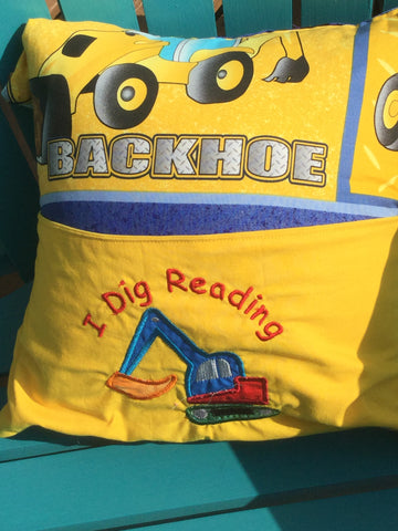 Book Pillow - I Dig Reading