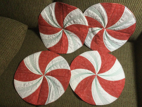 NEW - Peppermint Placemats - 2 left!