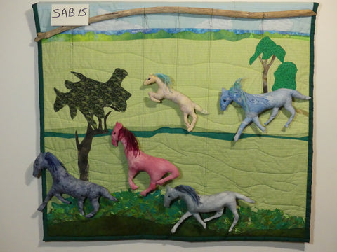 Fibre Art by Mary Ev Wyatt - Running Horses