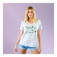 V-Neck Tee Believe in Nature Hummingbird