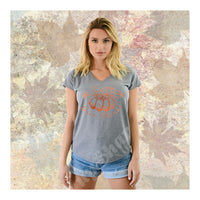 V-Neck Tee Pumpkin Give Thanks