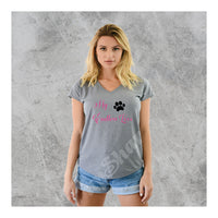 V-Neck Tee Dog Paw My Endless Love