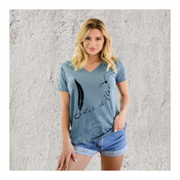 V-Neck Tee Feather Seagull