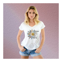 V-Neck Tee Sunflower Between Being And Not Being I Am