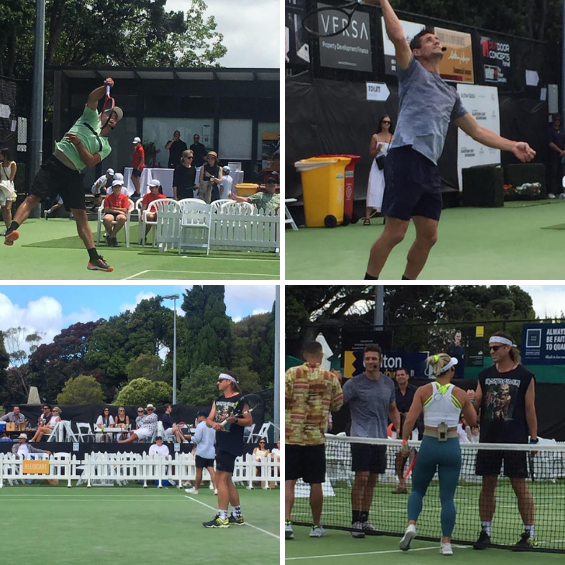 Heliocare supporting tennis greats at the Gladstone Fast 4