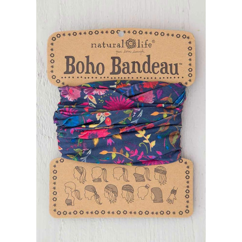 Navy Wildflower Boho Bandeau