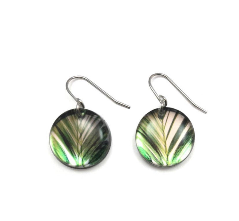 Mirror Round Palm Earrings