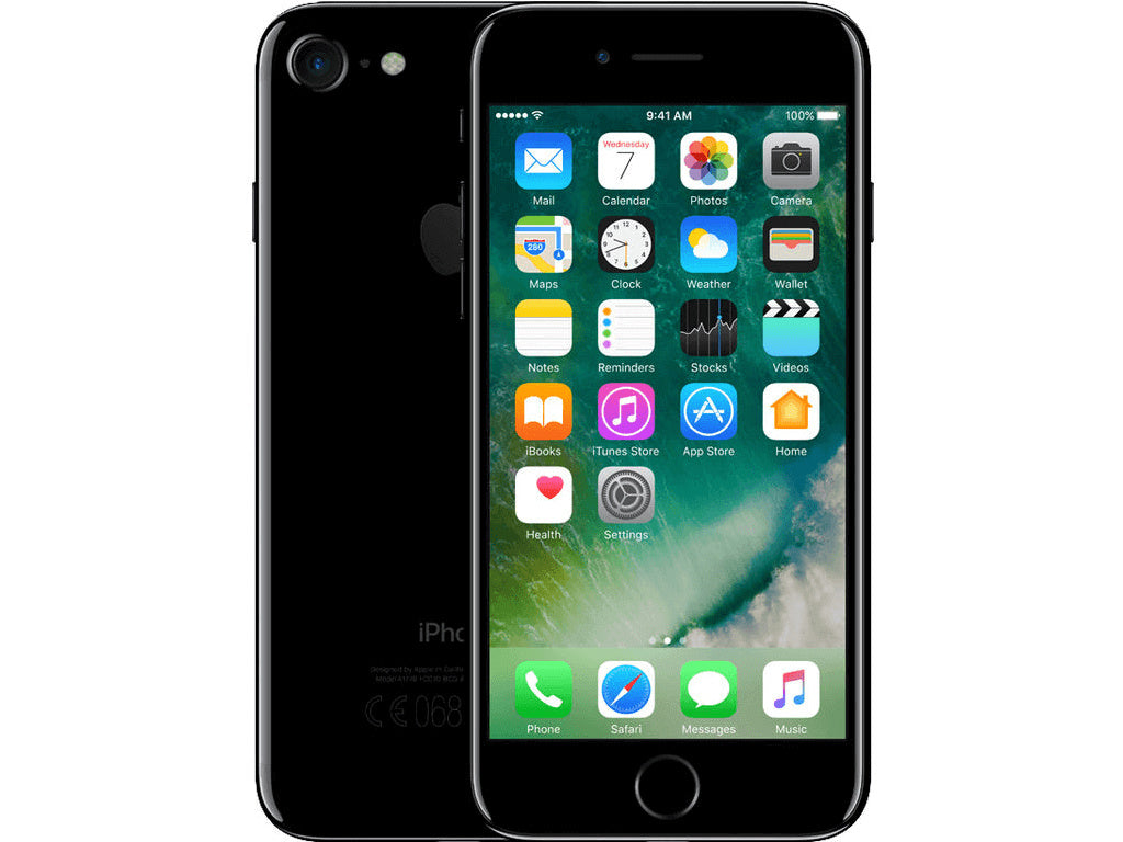 Refurbished Apple iPhone 7 128GB-jet black-Licht gebruikt