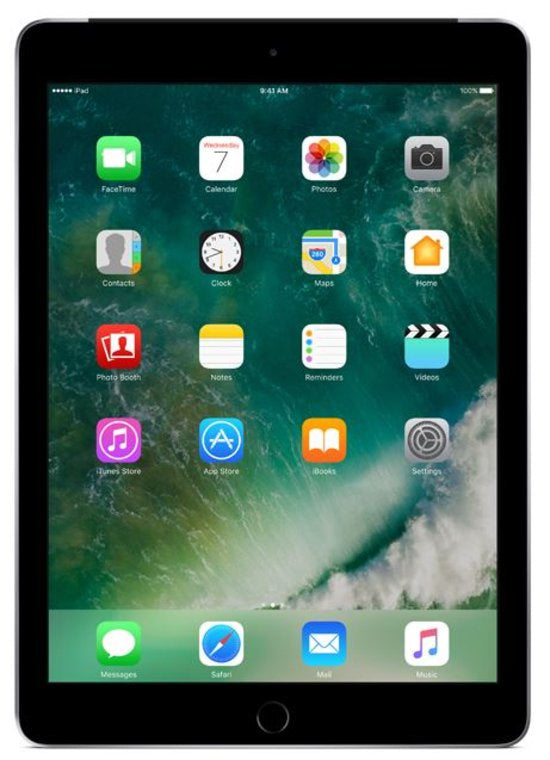 Refurbished Apple iPad (2017) 128GB Wifi only-Space Grey-Zichtbaar gebruikt