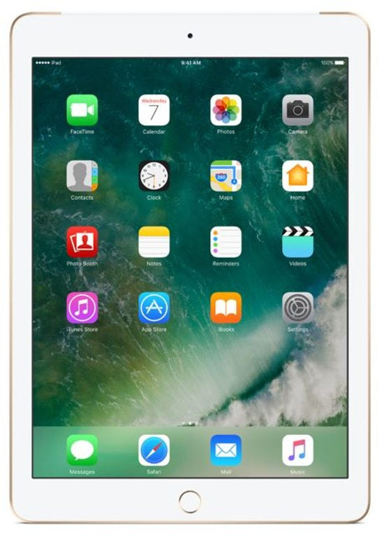Refurbished Apple iPad (2017) 128GB Wifi only-Gold-Zichtbaar gebruikt