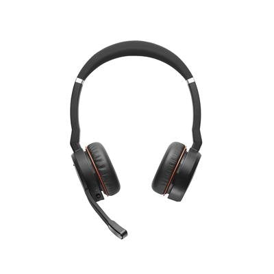 Jabra Evolve 75 MS  Stereo draadloze bluetooth headset met Active Noise Cancelling