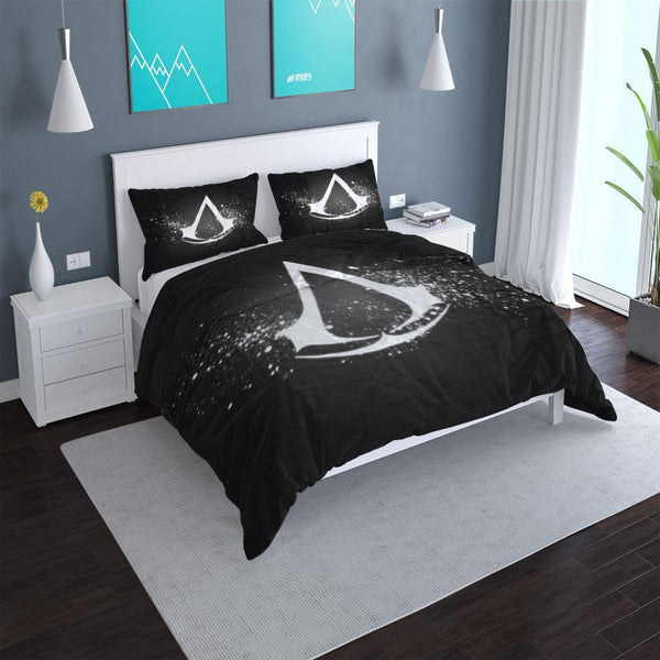 3d Customize Assassin's Creed Bed Set Duvet Cover Set Man Bedroom Black Comforter Set-Assassin's Creed Duvet Cover Set