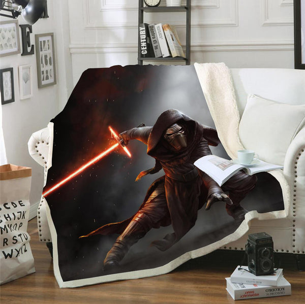 3D Customized Star Wars Blanket Bedding Marvel Blanket Home Decor