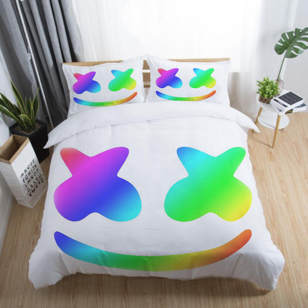 3d Printed DJ Marshmello Bedding Sets Quilt Cover Duvet Comforter Cover Bedroom Set-DJ Marshmello Bed set-simphouse