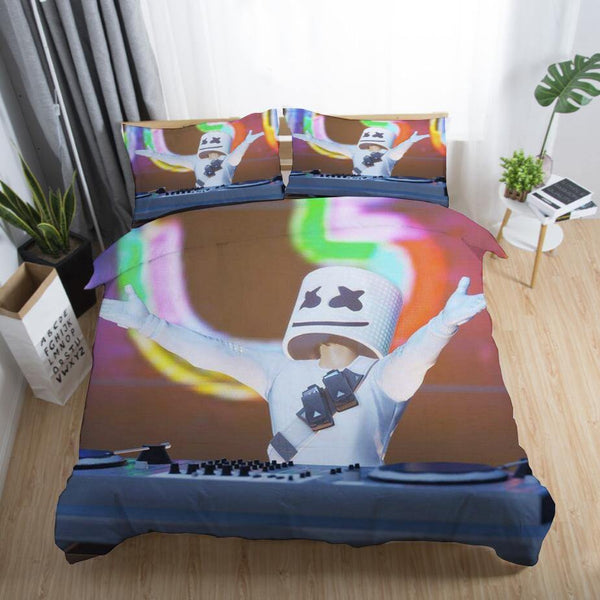 DJ Marshmello Bedding Sets Quilt Cover Duvet Comforter Cover-DJ Marshmello Bed set-simphouse