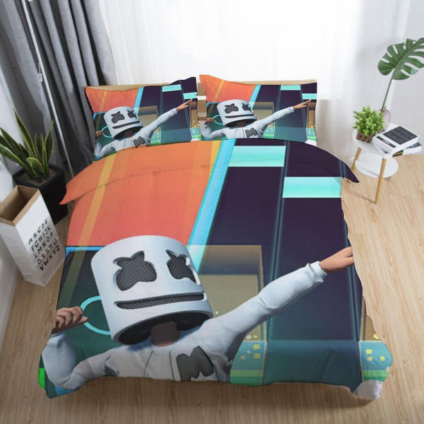 DJ Marshmello Bedding Sets Quilt Cover Comforter Cover Duvet Sheet-DJ Marshmello Bed set-simphouse