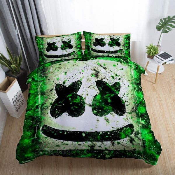 DJ Marshmello Bedding Sets Bedroom Cover Comforter Cover Duvet Sheet-DJ Marshmello Bed set-simphouse