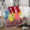 SpongeBob Square Pants Blanket Yellow Bedding Blanket for kids